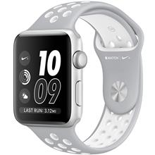 Apple Watch 2 Nike Plus 42mm Silver Aluminium Case with Flat Silver/White Nike Sport Band